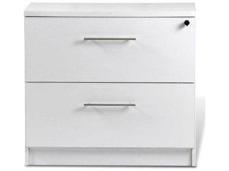 Unique Furniture 100 Series White Two Drawer 32'' x 20'' Lateral File Cabinet JE132202WH