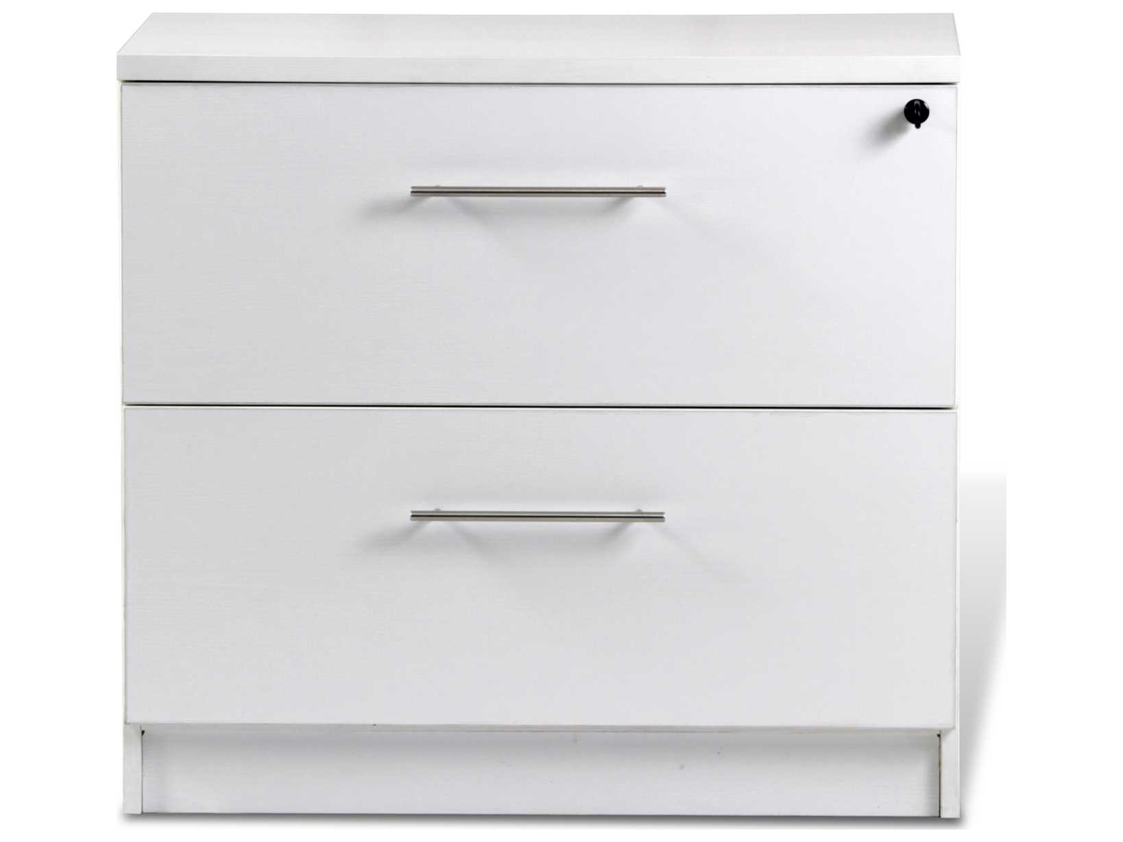Image of: Unique Furniture 100 Series White Two Drawer 32 X 20 Lateral File Cabinet Je132202wh