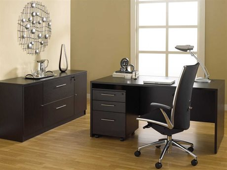 Unique Furniture 100 Series Espresso Office Set JE100COMBO10ESP