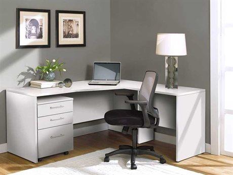 Unique Furniture 100 Series White L-Shape 63'' x 63'' Computer Desk