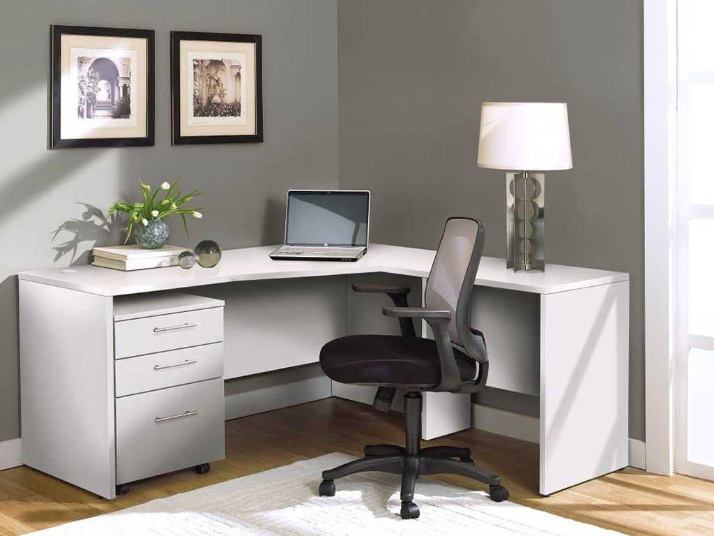 White L Shape 63 X Computer Desk
