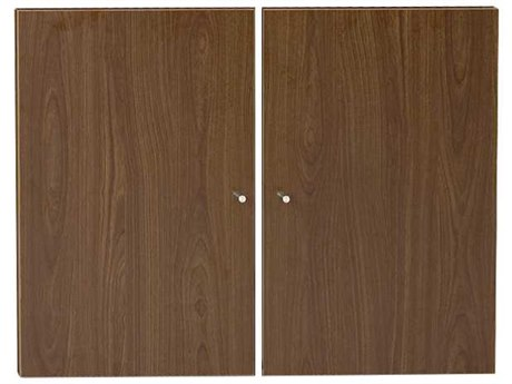Unique Furniture 100 Series Walnut Doors for Bookcase JEA180WAL