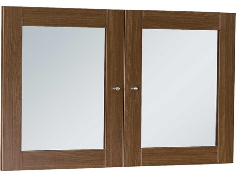 Unique Furniture 100 Series Walnut Glass Doors for Hutch JEA183WAL