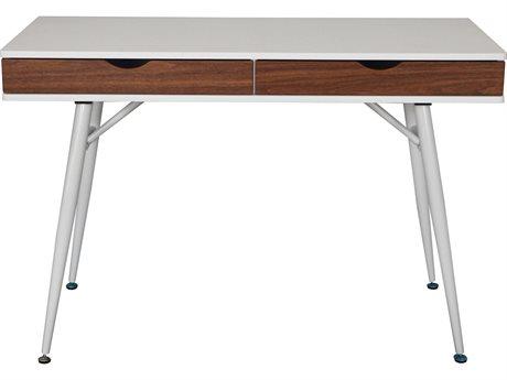 Unique Furniture 200 Collection White/walnut Secretary Desk