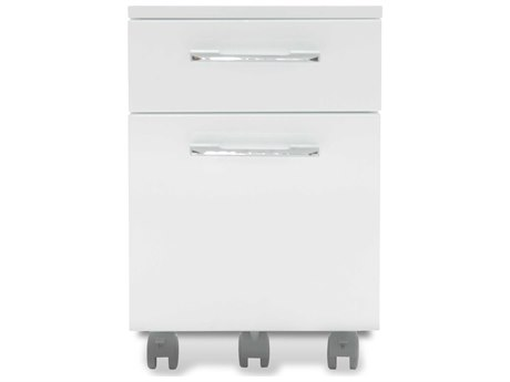 Unique Furniture 200 Series White Two Drawer 20'' x 17'' Mobile File Cabinet