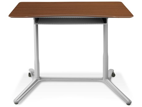 Unique Furniture 200 Series Cherry 38'' x 20'' Height Adjustable Standing Desk