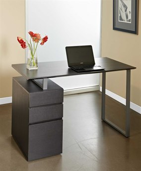 Unique Furniture 200 Series Espresso 48'' x 24'' Writing Desk with Drawers