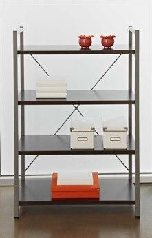 Unique Furniture 200 Series 32L x 48H Espresso Four Shelf Bookcase JE213ESP