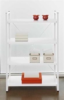 Unique Furniture 200 Series 32L x 48H White Four Shelf Bookcase JE213WH