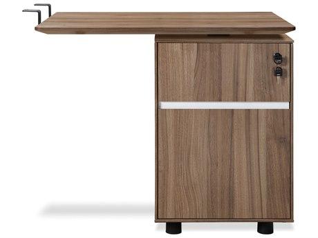 Unique Furniture 300 Series 71'' x 35'' Espresso Return Desk with File Cabinet