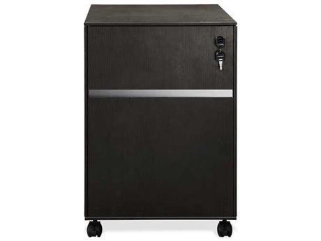 Unique Furniture 300 Series Espresso Mobile Pedestal File Cabinet
