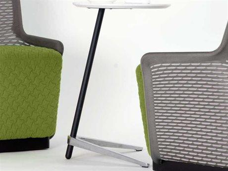 Unique Furniture 400 Collection White 17'' Wide Round Pedestal Table
