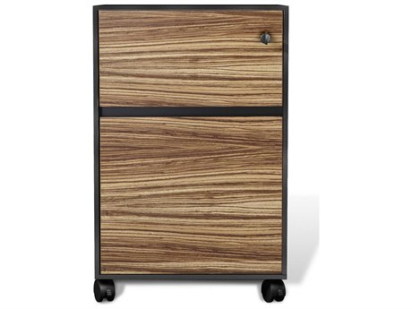 Unique Furniture 400 Series Zebrano 17'' x 20'' Mobile Pedestal