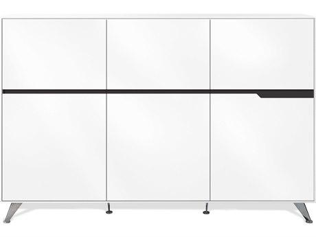 Unique Furniture 400 Series White Storage Cabinet