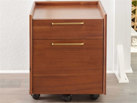 Unique Furniture Denali Walnut File Cabinet