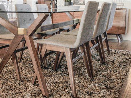 Unique Furniture Denali Walnut Side Dining Chair