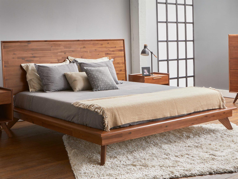 Picture of: Unique Furniture Denali Walnut King Platform Bed Jednli3818