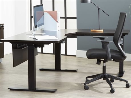 Unique Furniture Kalmar Espresso L-Shaped Desk JEK6363SSRESP