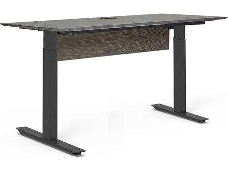 Unique Furniture Oslo Grey Ash / Black Computer Desk