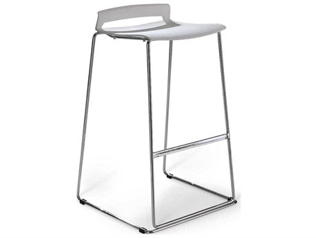 Unique Furniture Sparky Chrome Side Bar Height Stool JE5431