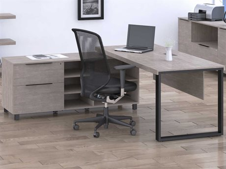 Unique Furniture Stavanger Grey L-Shaped Desk JES280228GREY