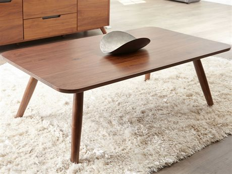 Unique Furniture Tahoe Walnut 50'' Wide Rectangular Coffee Table JETAHDN4183
