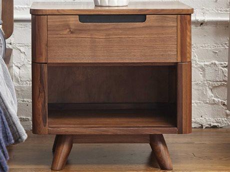 Unique Furniture Tahoe Walnut 1 Drawer Nightstand