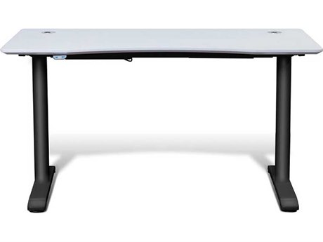 Unique Furniture Sit & Stand Value White 55'' x 27'' Electric Height Adjustable Standing Desk