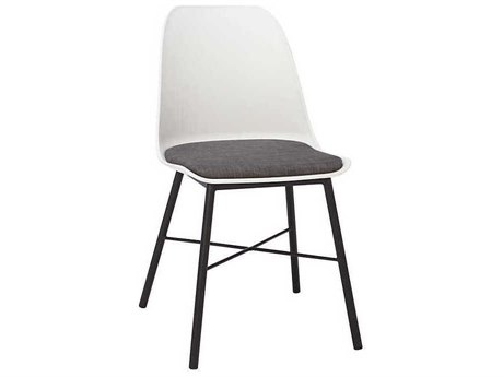 Unique Furniture Whistler White / Grey Side Dining Chair (Sold in 2)