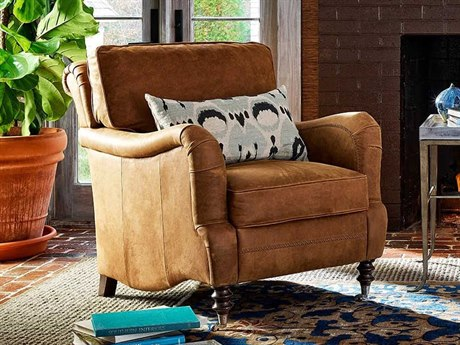 Universal Furniture Leather Sumatra Rolling Accent Chair UF682543706