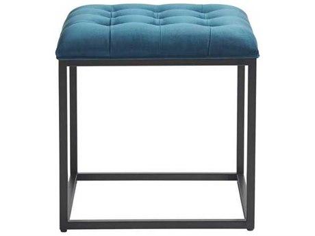 Universal Furniture Bennett Sapphire Velvet Ottoman