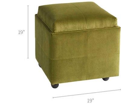 Universal Furniture Jasper Sapphire Velvet Spring Ottoman