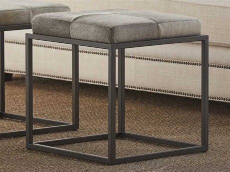 Universal Furniture Accent Chairs Grey Natural Cowhide Ottoman