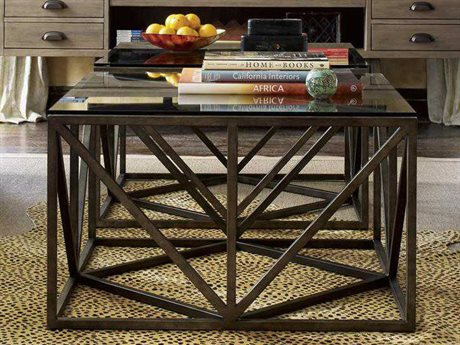 Universal Furniture Authenticity 32'' Wide Square Khaki Truss Cocktail Table UF572801