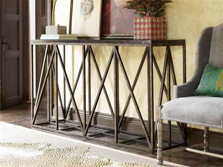 Universal Furniture Authenticity 60''L x 18'' Rectangular Khaki Truss Console Table UF572803