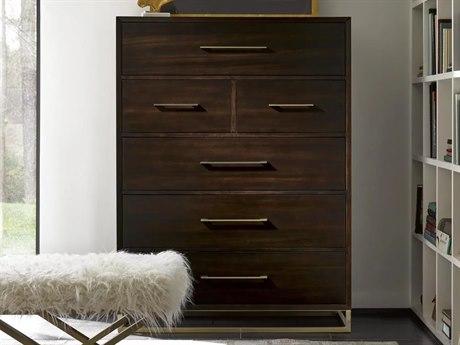 Universal Furniture Modern Mahogany / Brushed Brass 6 Drawers Chest of UF644150