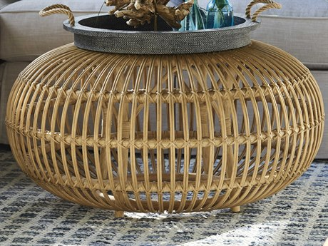 Universal Furniture Coastal Living Rattan 36'' Wide Round Coffee Table UF833809
