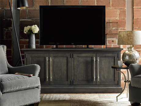Universal Furniture Curated 78''L x 20''W Rectangular Graphite Emerson TV Console