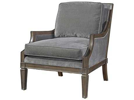 Universal Furniture Curated Grey Cloud Crosspoint Accent Chair