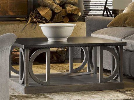 Universal Furniture Curated 38'' Wide Square Greystone Carlton Cocktail Table