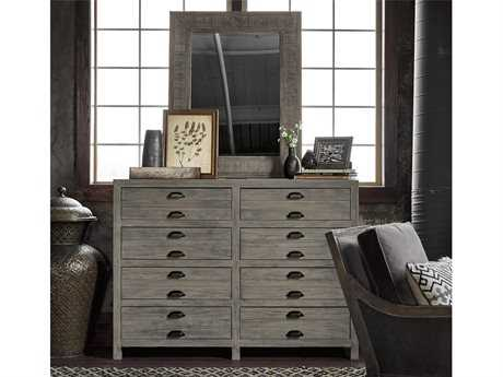 Universal Furniture Curated GIimore Double Dresser with Mirror Set