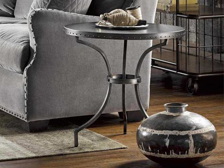 Universal Furniture Curated 24'' Wide Round Greystone Eliston End Table