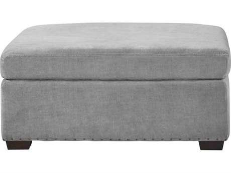 Universal Furniture Curated Grey Cloud Haven Ottoman