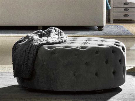 Universal Furniture Curated Grey Cloud Aberdeen Ottoman