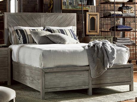 Universal Furniture Curated Greystone Biscayne Queen Size Panel Bed with Storage UF558250B