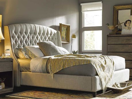 Universal Furniture Curated Belgian Halston Queen Size Platform Bed UF552250B