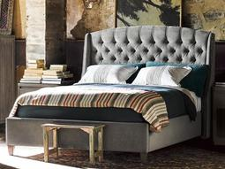 Curated Grey Cloud Halston King Size Platform Bed