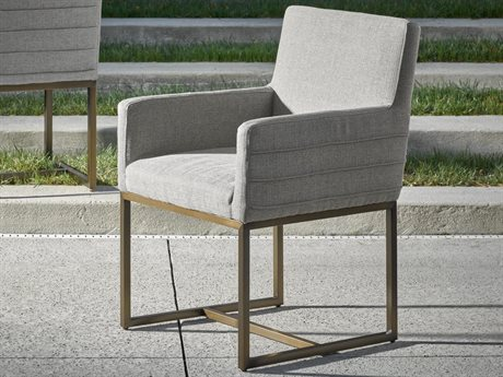 Universal Furniture Modern Quartz / Bronze Arm Dining Chair (Sold in 2)