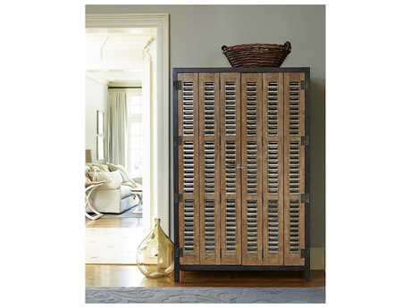 Universal Furniture Moderne Muse 49''L x 19''W Cobalt & Bisque Door Libations Locker Wine Bar UF414690