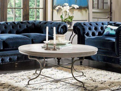 Universal Furniture Elan 44'' Wide Round Belgian Wheat Coffee Table